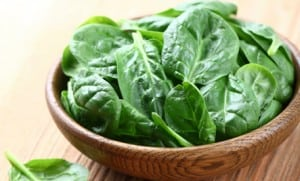 A beatify bowel of green and fresh spinach