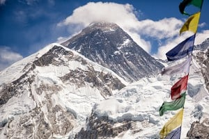 The Everest Summit pictured from base camp!