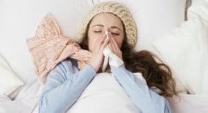 Woman suffering from flu