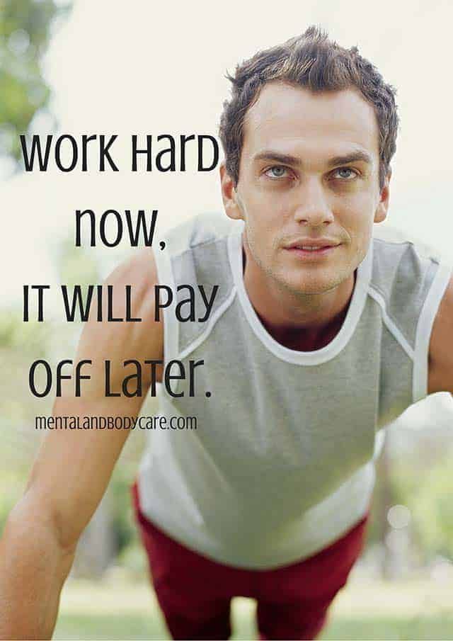 work hard now - workout motivation