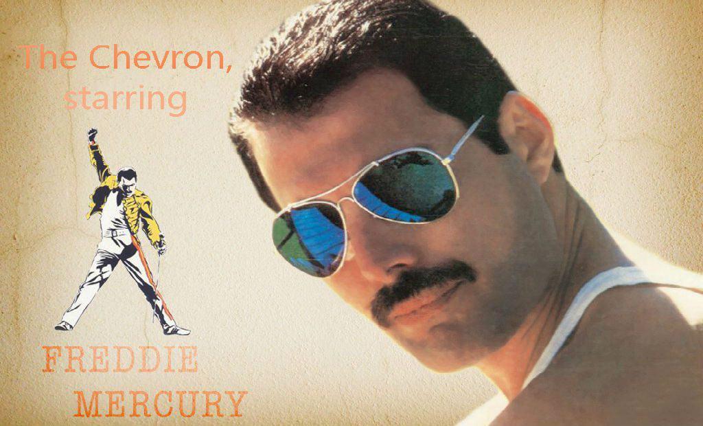 Freddie Mercury starring the chevron mustache - grow a mustache