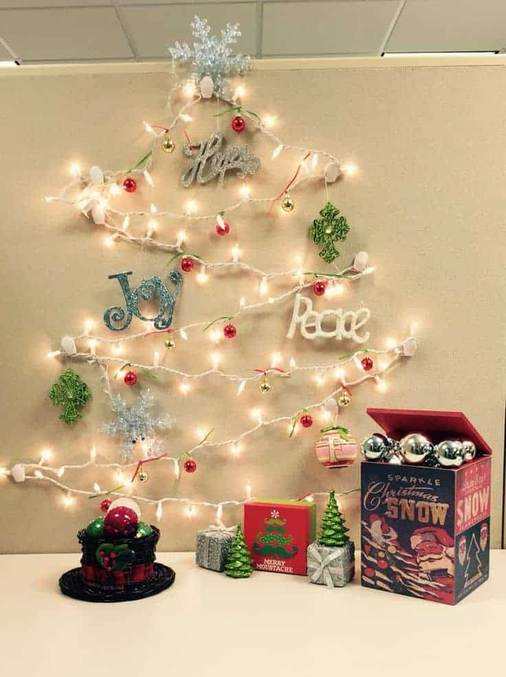 christmas office decoration ideas. Don\u0027t Put Too Many Shiny And Distracting Christmas Decorations Around Your Work Place. Office Decoration Ideas